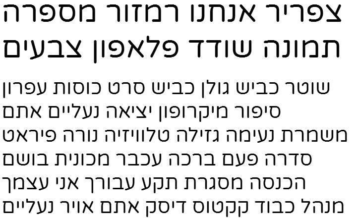 Varela Round Hebrew Font