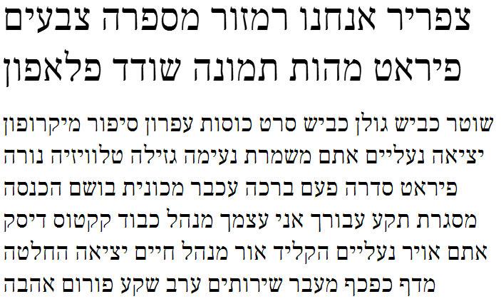 Frank Ruhl Libre Hebrew Font