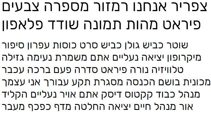 Rubik Hebrew Font