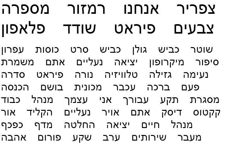 Evyoni Palaeo Hebrew Font