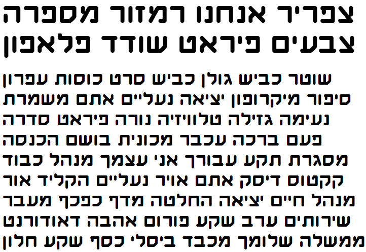 Haim Revolutions Hebrew Font