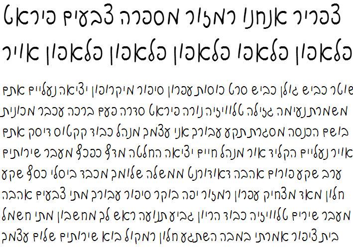 Motek Hebrew Font
