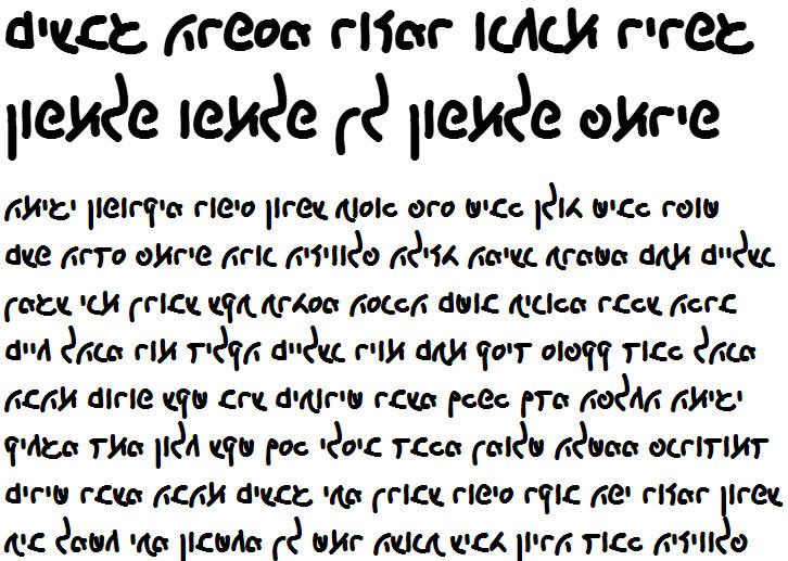 X_Akitza Bold Hebrew Font