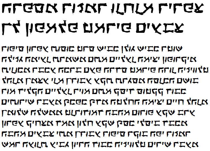 X_Anarchy Bold Hebrew Font