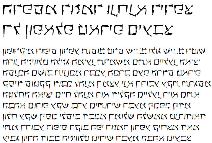 X_Anarchy Hebrew Font