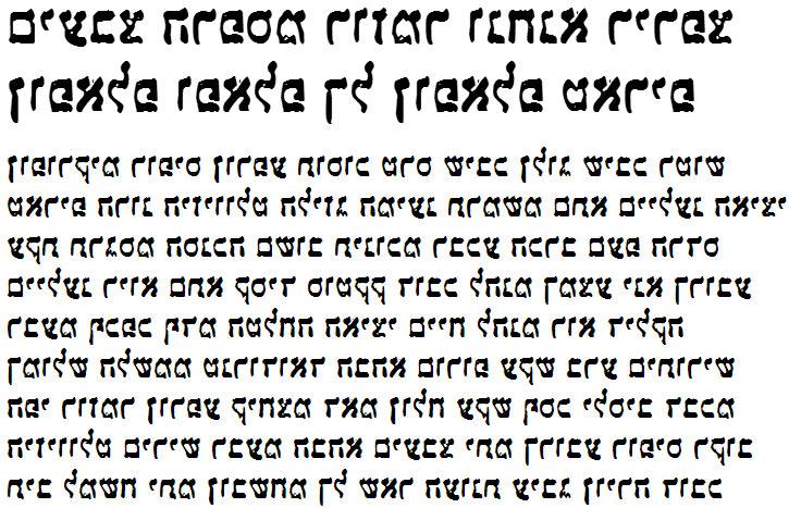 X_Ariana Hebrew Font