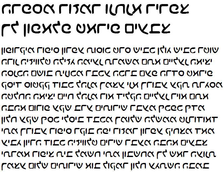 X_Choco Hebrew Font