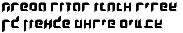 X_Dlilah Bold Hebrew Font
