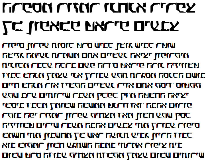 X_Eldad Bold Hebrew Font