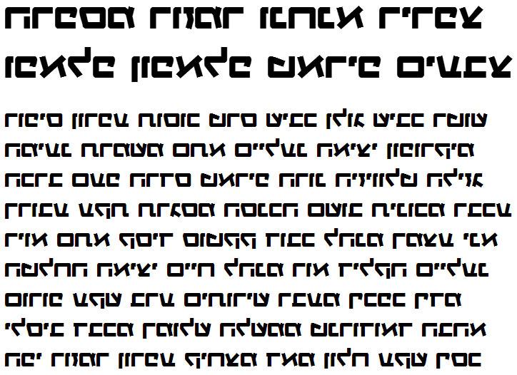 X_Gagua Bold Hebrew Font