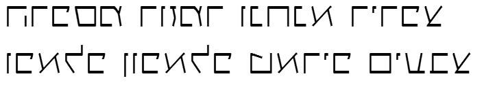 X_Gagua Thin Hebrew Font