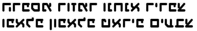 X_Haim Revolutions Hebrew Font