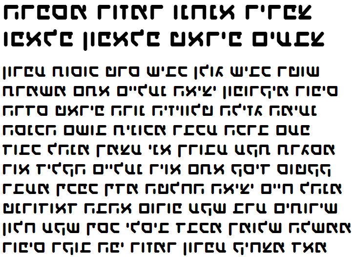 X_Haim Revolutions Hebrew Font