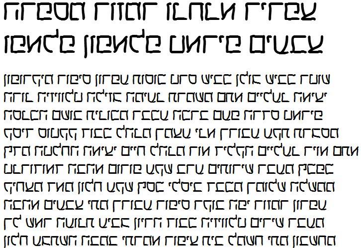 X_Helem Bold Hebrew Font