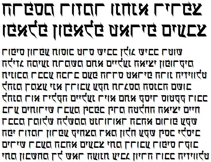 X_Ilanit Bold Hebrew Font