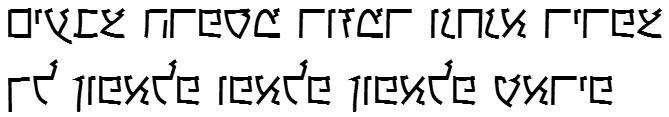 X_Keshet Hebrew Font