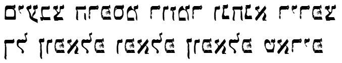 X_Kunstlicheberg Hebrew Font