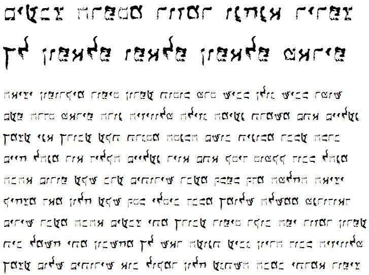 X_Lakahat Hebrew Font