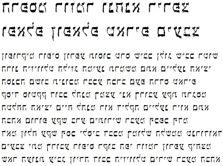 X_Latet Hebrew Font