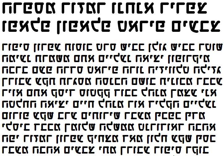 X_Lin Bold Hebrew Font