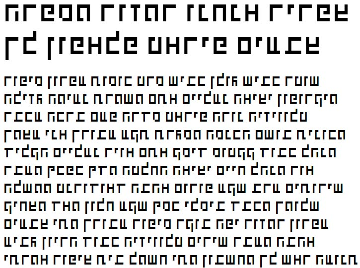 X_Shimshon Hebrew Font