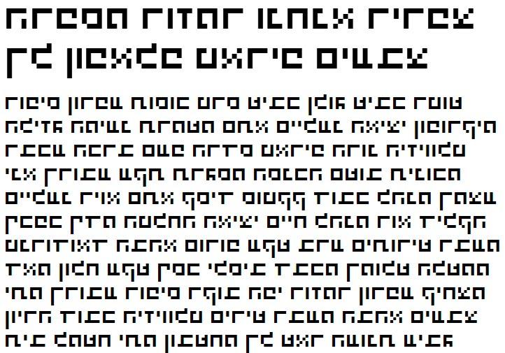 X_Stanger Bold Hebrew Font