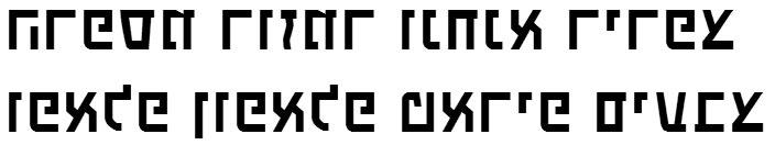 X_Touring Hebrew Font